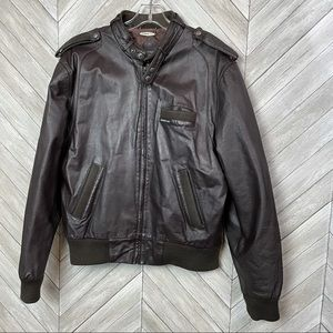Vintage 1990s Members Only Leather Jacket 42
